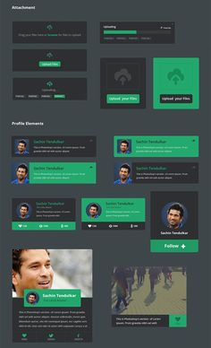 Profile_Flat design