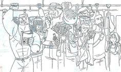 mumbai local train sketch - Google Search