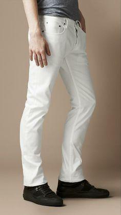 Burberry Brit Steadman White Slim Fit Jeans