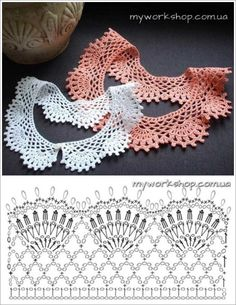 Diy Crafts - VK is the largest European social network with more than 100 million active users. Our goal is to keep old friends, ex-classmates, neighb Crochet Collar Pattern, Col Crochet, Crochet Lace Collar, Crochet Lace Edging, Single Crochet Stitch, Crochet Diagram, Crochet Stitches Patterns, Crochet Basics, Crochet Shawl