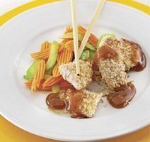 Poulet croustillant au sésame Skinny Recipes, Potato Salad, Potatoes, Menu, Diet, Chicken, Ethnic Recipes, Food, Apricot Chicken