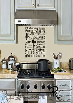 Kitchen Spice Vinyl Wall Decal Kitchen Decal by RoyceLaneCreations, $10.00