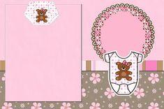 Cha de Fraldas e Nascimento Menina Ursinha Marrom e Rosa - Kit Completo com…
