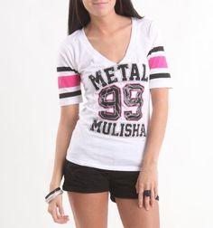 Metal Mulisha Womens Lucky Stripe Football Tee - White X Med Size Metal Mulisha, http://www.amazon.com/dp/B00851M64Y/ref=cm_sw_r_pi_dp_jiWXpb0VQ8TMP