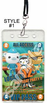 THE OCTONAUTS VIP PASSES WITH LANYARDS