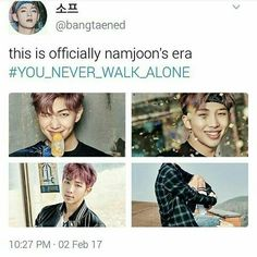 "OH GAWD! I thought the same thing!! If BST was Jimin's and Hobi's Era, You Never Walk Alone is Namjoon's :"">"
