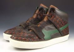 Louis Vuitton Men's Shoes 8.5, 9.5 US Tower Leather Lace Up Sneakers Brown #LouisVuitton #FashionSneakers