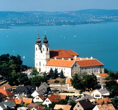 Lake Balaton in Hungary. European tourist destination. Also amazing Hungarian wine vineyards too! Visited Lake Balaton in 2001.
