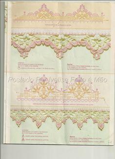 Various lovely crochet edgings! :) Barradinhos Em Crochê...Vários!