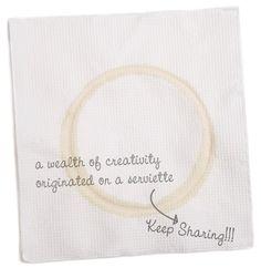 A wealth of creativity originated on a serviette…
