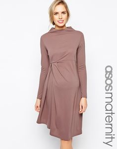 ASOS Maternity Exclusive Midi Dress with Waterfall Detail