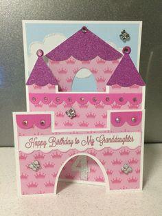 Princess castle birthday card Kids Cards, Baby Cards, Princess Cards, Birthday Cards, Happy Birthday, Bday Girl, Princess Castle, Cricket, Brother