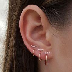 Bijoux Piercing Septum, Tattoo Und Piercing, Cartilage Piercings, Pretty Ear Piercings, Ear Peircings, Piercings For Small Ears, Types Of Ear Piercings, Tongue Piercings, Ear Piercings