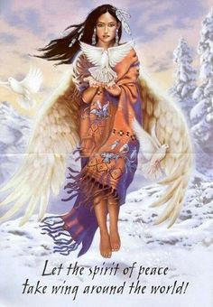 Let the spirit of peace take wing around the world! Cherokee Billie Spiritual Advisor