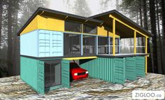 ⌂ The Container Home ⌂ persp2-HQ