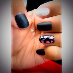 Matte black with roses x