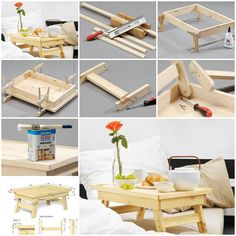 The following diy project doesn't require good carpenter skills, which is good for an unhandy person like me. Just follow the instructions to see how to make this simple bed tray.