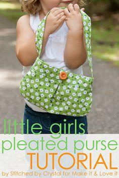 Girls Pleated Purse
