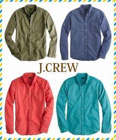 セレブ愛用者多数!☆J.CREW☆オックスフォードシャツ 4色 どのシーズンにも活躍する清潔感のあるシャツになります。 デニムやチノパンなど、合わせるボトムスを選ばないところが魅力です。  明るいカラーリングでコーディネートの差し色として、またこれからのシーズンは  セーターやカーディガンと合わせた暖かいスタイルにもおすすめです。