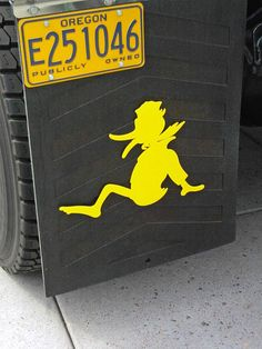 Talk about mud flaps, Oregon Duck's got 'em hahahhahaha! These are awesome
