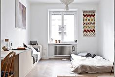 scandinavian interior design, studio