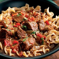 Hungarian beef goulash in the crock pot.Craig mentioned you like goulash. Going to make this Sunday, looks really good and easy! Healthy Slow Cooker, Slow Cooker Recipes, Crockpot Recipes, Cooking Recipes, Soup Recipes, Beef Goulash, Goulash Recipes, Beef Stroganoff, Great Recipes