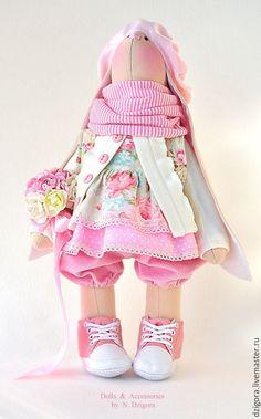 Купить Зайка с рюкзачком - зайцы, заяц, заяц игрушка, заяц текстильный, Заяц в подарок