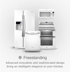 I knew I liked white all along!  Finally a choice that isn't stainless steel. Whirlpool® Ice Collection Freestanding