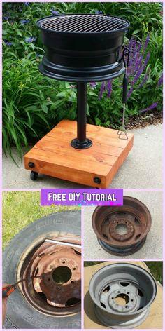 DIY No Welding Tire Rim Grill Tutorial