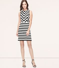 Primary Image of Mixed Stripe Dress