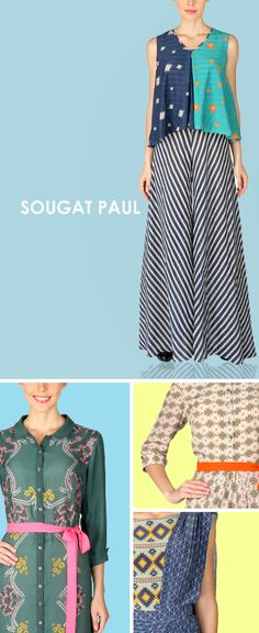 Sougat Paul is an Indian Designer who creates classy and stylish Indian clothes including a wide variety of ensembles like Dresses, Lehengas, Sarees, Lehengas, Tops, Jackets and Trousers. Detailing forms a key element in his versatile designs along with enormous emphasis on quality and finishing