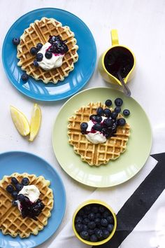 Ricotta Waffles from Whip It Up! // The Sugar Hit