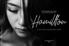 Hamillton is a beautiful font family crafted in a simple signature style, kept elegant for use in a wide range of projects. This font comes in 3 variants and looks great in displays, watermarks, logotype, and more. Pretty Fonts, Beautiful Fonts, Cool Fonts, Handwritten Fonts, Script Fonts, New Fonts, Design Typography, Typography Fonts, Lettering