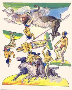 Kathleen Taylor's Dakota Dreams: Thursday Tab on Friday- Saalfield Cowboys and Indians, 1938