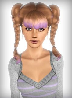 NewSea`s Bellku hairstyle retextured by Forever and Always for Sims 3 - Sims Hairs - http://simshairs.com/newseas-bellku-hairstyle-retextured-by-forever-and-always/