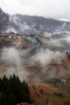 Romania - Transylvania at it's best. Oh how I miss the morning fog. Places Around The World, Oh The Places You'll Go, Around The Worlds, Romania People, Transylvania Romania, Visit Romania, Romania Travel, Beautiful Castles, Beautiful Places To Visit