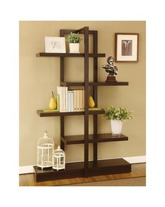 This modern bookcase gives you a great way to display your style for all to see. Buy it here: http://www.bhg.com/shop/enitial-lab-addison-cappuccino-bookcase-display-stand-p506550fb82a71c80fe3a2671.html