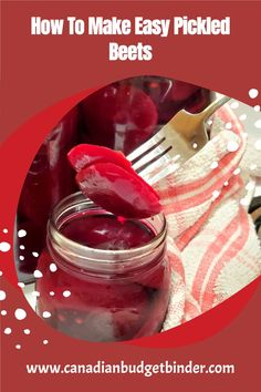 Pickled beets also known as beetroots are easy to make and inexpensive. I show you step by step how to make pickled beets and what you can do with your beet greens. Easy Pickled Beets and you have all of the control of the flavours. Frugal Recipes, Frugal Meals, Budget Meals, Canadian Recipes, Canadian Food, Pickled Beets, Pickling, Make It Simple, Canning