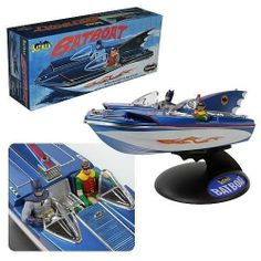 FabGearUSA - Batman Batboat model Kit By Polar Lights, $19.95 (http://www.fabgearusa.com/batman-batboat-model-kit-by-polar-lights/)