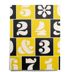 House number prints from Heath ceramics