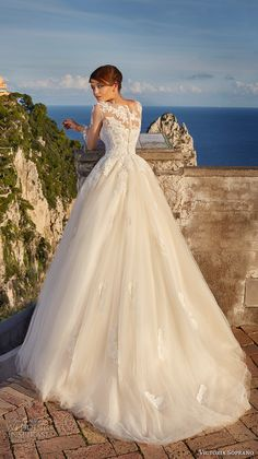 victoria soprano 2017 bridal cap sleeves illusion bateau sweetheart neckline bustier heavily embellished bodice romantic blush a  line ball gown wedding dress sheer lace back chapel train (10) bv -- Victoria Soprano 2017 Wedding Dresses