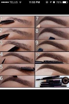 Brows are your most important feature. Even if you do not have full brows, keep them shaped and fill them in! A dark eyeshadow and a eye definer brush will give you flawless results! We love Bobbi Brown espresso shadow with their eyebrow brush.