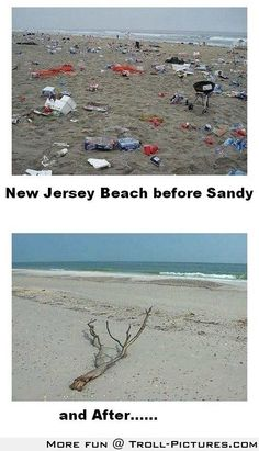 New Jersey Beaches, before and after Hurricane Sandy