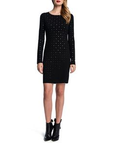 Long-Sleeve+Embellished+Dress+by+Cynthia+Steffe+at+Neiman+Marcus.