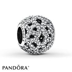 Pandora Charm Shimmering Lace Sterling Silver