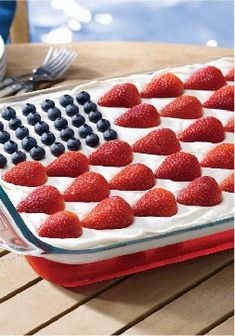 Wave Your Flag Cheesecake — This patriotically patterned strawberry-blueberry dessert is just the recipe to bring to your next summer potluck.