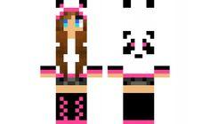 minecraft skin pink panda girl 1