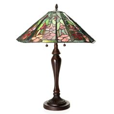Tiffany-Style Rosalia Cone-shaped Table Lamp | Overstock™ Shopping - Great Deals on Warehouse of Tiffany Tiffany Style Lighting