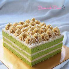 Pandan Layer Cake, Pandan Chiffon Cake, Fancy Desserts, Asian Desserts, Tea Cakes, Cupcake Cakes, Cupcakes, Layer Cake Recipes, Cake Icing