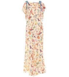 REDValentino Printed Silk Jumpsuit For Spring-Summer 2017